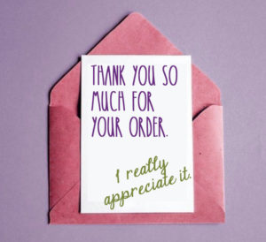 Thank you for your order.